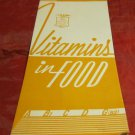 vintage Vitamins in Food pamphlet by the Kellogg Company~1950's-1960's