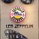 Vintage Led Zeppelin Buttons Trio Express Swan Song pins promo pack 2015
