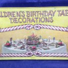 Antique Vintage 1924 The Beistle Company Children's Birthday Table Decorations