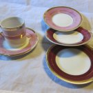 1 Demitasse cup & 4 saucers~vintage Arnart Royal Crown 2822~free US shipping