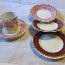 1 Demitasse cup & 4 saucers~vintage Arnart Royal Crown 2822~free US shipping