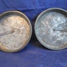 Ovenex Made in England vintage cake pan with slider 2 metal pans starburst