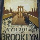Brooklyn Bridge NY painting mixed media art artwork Mauro Biaocco NYC New York
