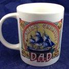 World's Greatest Dad Coffee Mug Ship Sailboat 10 Oz Ounces father father's daddy