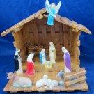 vintage Creche Manger Nativity scene Christmas Decoration clothespin folk art