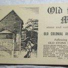 vintage Old Stone Mill Flours brochure~retro kitchen ephemera