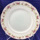 "Mercer Pottery Company 8"" Plate Dish Semi-vitreous White Pink Flowers"