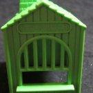 vintage Mattel Putt Putt Railroad RR toy train set green ticket booth building