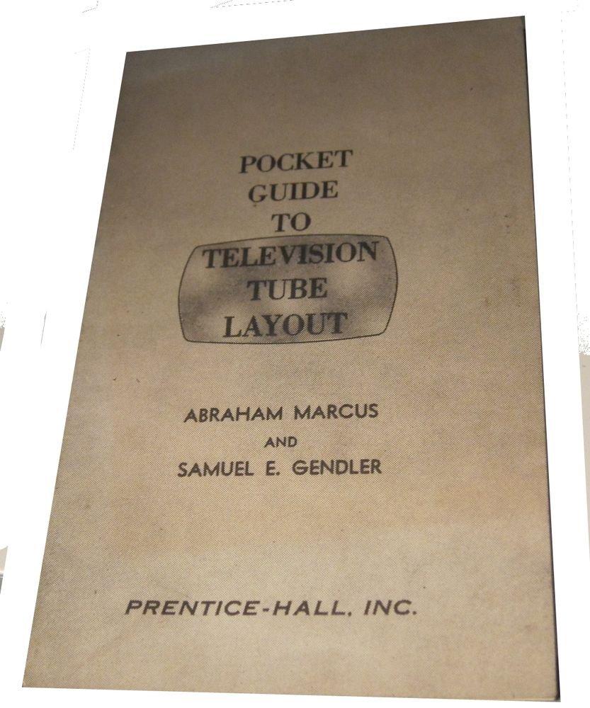Pocket Guide to Television Tube Layout~vintage TV ephemera~FREE US SHIP