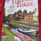Threats at Three 3 by Ann Purser~Paperback romance book~FREE US SHIPPING