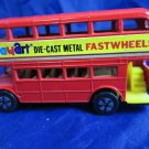 vintage Playart Play Art Fastwheels Fast Wheels London red double decker bus