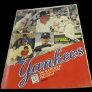 1986 New York Yankees vs Texas Rangers scorebook & souvenir program~Lou Piniella