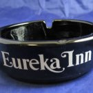 vintage Eureka Inn black glass ashtray~California or Nevada hotel/motel