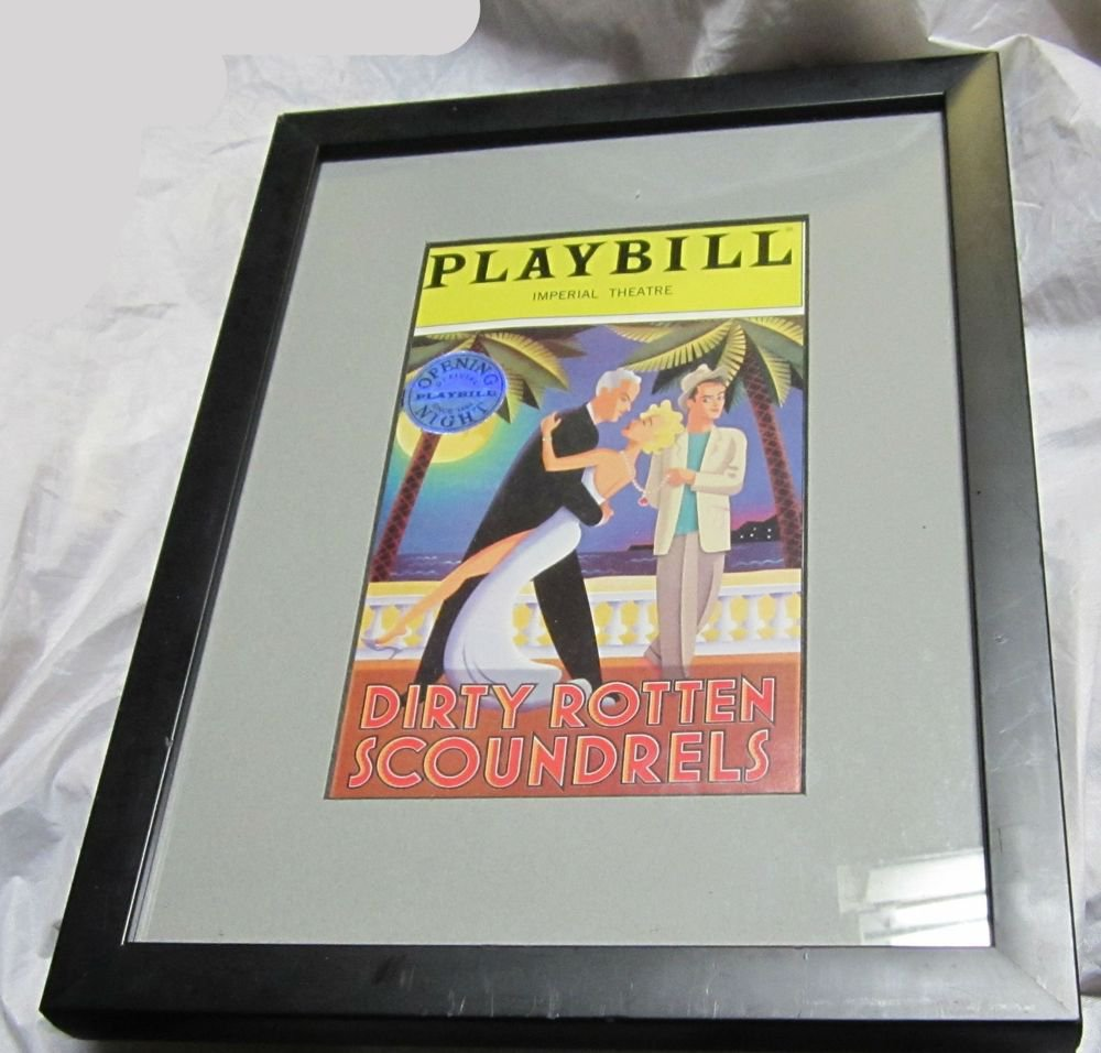March 3 2005 Dirty Rotten Scoundrels Opening Night Playbill~Framed~Broadway