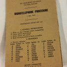Radiotelephone Procedure booklet May 1951 3D Armored Division US Army Fort Knox