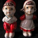 Dutch boy & girl salt & pepper shakers~vintage~FREE US SHIP