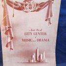 New York City Center of Music and Drama program Magazine  February 24 1946