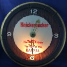 Vintage Rupert Knickerbocker Beer Lighted Clock Sign Works