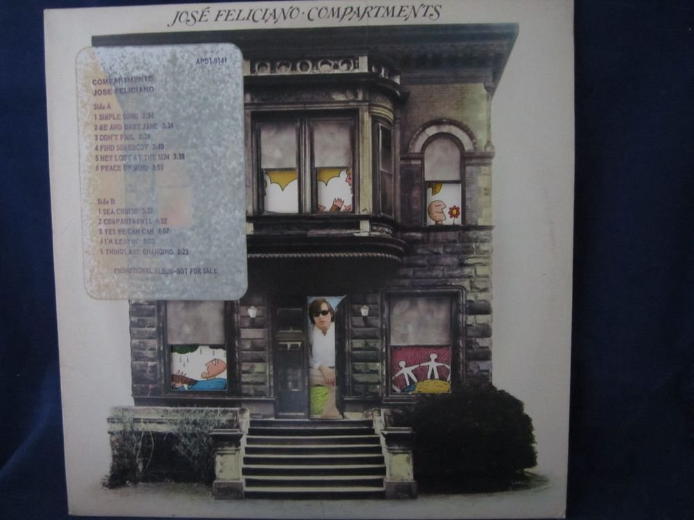 Jose Feliciano COMPARTMENTS vintage record/vinyl/album/LP~FREE US SHIPPING