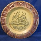 vintage Virginia zodiac ashtray souvenir plate dish kitsch retro