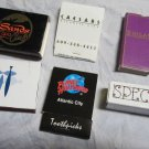Lot of 6 Atlantic City NJ Matchbooks~New Jersey matches~match book~free US ship