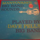Mantovanni's Big Band Sounds Played~Dave Pell's Big Band~YELLOW vinyl record LP