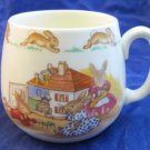 Bunnykins Doll's House 1 Handle Don Mug by Royal Doulton Dollhouse 1968-1975