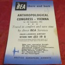 British European Airways ad from 1952 for the Anthropological Congress in Vienna