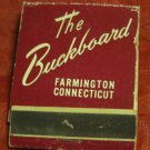 matchbook for The Buckboard Restaurant in Farmington CT~Connecticut matches