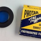 Vintage Photar Tiffen Color Correction Photographic Filter Blue 80C #6 Series