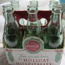 vintage-style Coca-Cola Holiday Hospitality Commemorative Bottles & Carrier~COKE