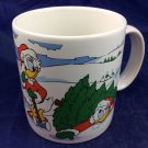 Donald Duck Huey Dewey Louie Daisy Santa Christmas Snow Winter Mug Disney 1988