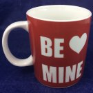 Be Mine Valentine Valentine's Day Red and White Ceramic Coffee Mug love heart