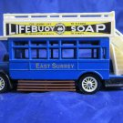 Matchbox Models of Yesteryear AEC S-type blue bus~Lifebuoy Soap~PRINTING ERROR