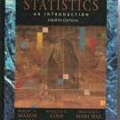 Statistics: An Introduction by Robert D. Mason (4th edition Hardcover book)