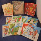 complete & vintage 1951 box of Popular Comics King Features Christmas cards