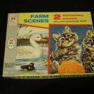 2 vintage 1965 Milton Bradley Puzzles MB 4307 kittens & ducks COMPLETE