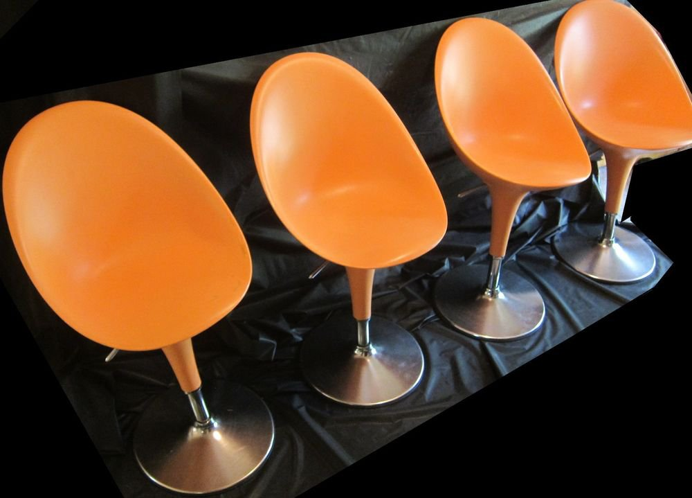 4 MAGIS BOMBO CHAIRS Stefano Giovannoni chair Modern furniture orange mod swivel