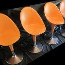 4 MAGIS BOMBO CHAIRS Stefano Giovannoni chair Modern furniture orange mod swivel