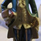 Occupied Japan figurine~French gentleman~man wearing green coat~FREE US SHIP