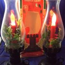 2 Vintage Electric Christmas Candle Lamps Early American Style Decoration GEM