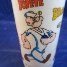 Popeye Brutus Sweet-pea Wimpy Olive Oil vintage plastic cup 1971