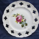 Vintage Ceramic Victoria Pottery Altrohlau Bohemia plate dish with rose floral