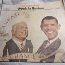 Obama vs. McCain election~~October 26 2008 New York Times Week in Review section