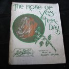 The Rose of Yesterday & Eileen from Old Killarney~vintage sheet music~1912