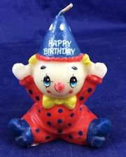 Vintage Russ Berriehappy Birthday Clown Candle 2381