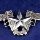 Vintage Silverstar Silver Star Belt Buckle Two Pistols Guns and a Star Vintage