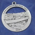 2001 Ogunquit Maine ornament Lobster Boat Christmas By the Sea metal decoration