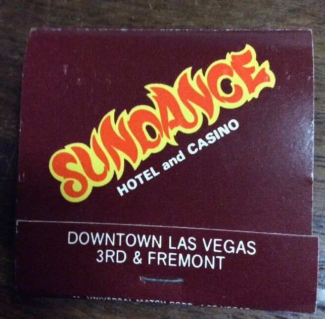 Vintage Sundance Hotel and Casino Las Vegas Matchbook matches tobacco match book