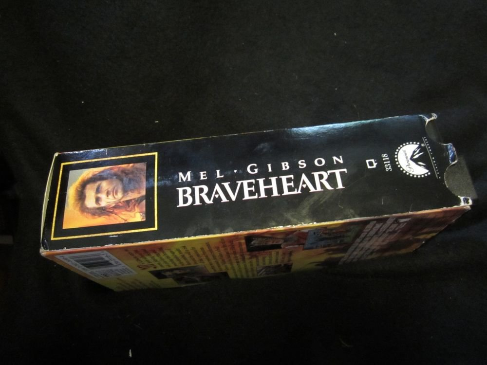Braveheart (VHS, 1996, 2-Tape Set) video tapes~Mel Gibson movie/film